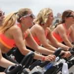 group of women cycling